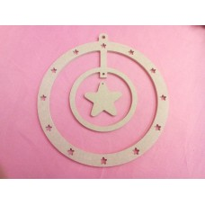 4mm MDF Star  Dreamcatcher Star